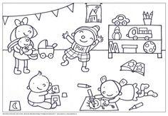 Uk & Puk | Kleurplaat 'Hier is Puk!' | Zwijsen Drawing For Kids, Good Company, Coloring Pages, Kindergarten, Snoopy, Teaching, Comics, Drawings, Fictional Characters