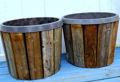 This DIY pro didn't like the look of plain old store-bought planters, so she took matters into her own hands.