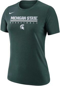 ead822142b6 Nike Michigan State Spartans Womens Green Basketball Practice Legend T-Shirt  - 125100944