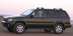 Nissan Pathfinder, vehicle #3 only owned it 2 weeks before it was totalled on highway 17, my first car out of school, mine was silver.