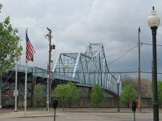 New Ironton Russell Bridge Ashland Kentucky Usa