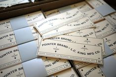 Pointer Brand : The Studio of Dan Blackman Clothing Tags, Brand Board, Brand Me, Identity Design, Visual Identity, Hang Tags, Make Me Happy, Tool Design, Pointers
