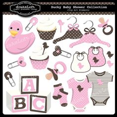 Hey, I found this really awesome Etsy listing at https://www.etsy.com/listing/72380522/pink-ducky-baby-shower-collection