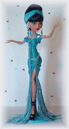 Custom NAUGHTY DIVA DRESS** Fits monster high dolls** By cindy