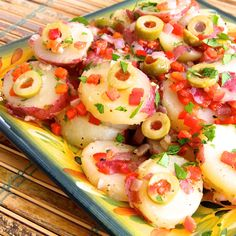 Forget mayonnaise potato salad and give Savory Spanish Potato Salad a try.  You won't be disappointed. #MyAllrecipes   #AllrecipesAllstars  #Spanish PotatoSalad
