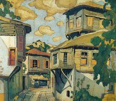 Greek Art, Art Day, All Art, Home Art, Greece, Painting, Paper Boats, Buildings, Visual Arts