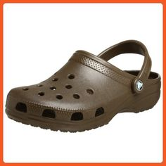 Crocs Classic Adult Shoes Lifestyle Footwear - Chocolate / Size M8/W10 - Mules and clogs for women (*Amazon Partner-Link)