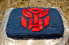 An Organized Family: Transformers Birthday Party and Transformer Cake