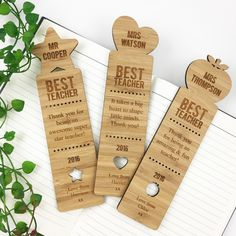 These personalised bookmarks make a unique gift for book lovers and of course teachers! These stunning bookmarks are personalised with the teachers name, and