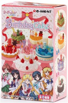 Sailor Moon Birthday Cake dessert Candy Re-Ment miniature blind box - Re-Ment Miniature - kawaii shop modeS4u