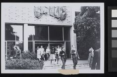 1960s students leaving new Wilson Hall by University of Melbourne Alumni, via Flickr