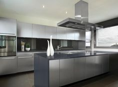 Do you want stainless steel cabinets for your home? Turn to Steel Kitchen. We can provide beautiful and stunning stainless steel kitchen cabinets. Steel Kitchen Cabinets, Modern Kitchen Cabinets, Metal Kitchen Cabinets, Contemporary Kitchen Design, Contemporary Kitchen, Modern Grey Kitchen, Modern Kitchen Cabinet Design, Outdoor Kitchen Cabinets, Kitchen Design