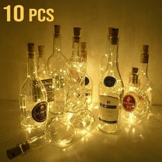 Objective 2017 Hot Sale 20 Led Chic Cork Shaped Night Starry Light Wine Bottle Lamp For Xmas Decor Cool At Any Cost Furniture Accessories