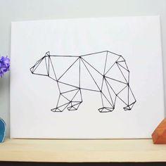 DIY Geometric Bear Art