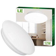 LE® 12W Ø28cm Kaltweiße LED Deckenleuchte, Ersatz für 80W Glühbirne (22W Leuchtstoffröhre), 950lm, 6000K, 120° Abstrahlwinkel, LED Deckenlampe, Deckenbeleuchtung im Wohnzimmer, Schlafzimmer, Esszimmer - http://led-beleuchtung-lampen.de/le-12w-o28cm-kaltweisse-led-deckenleuchte-ersatz-fuer-80w-gluehbirne-22w-leuchtstoffroehre-950lm-6000k-120-abstrahlwinkel-led-deckenlampe-deckenbeleuchtung-im-wohnzimmer-schlafzim/ #BeleuchtungWohnzimmer