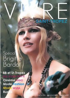 """Living Saint-Tropez"" (edition 2014) with Brigitte Bardot on the cover."