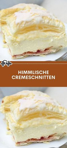 HIMMLISCHE CREMESCHNITTEN – Die Küche Easy Cheesecake Recipes, Healthy Dessert Recipes, Baking Recipes, Baking Desserts, Kitchen Recipes, Healthy Food, Greek Yogurt Recipes, Summer Desserts, Apple Desserts