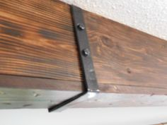Ceiling Beam Straps - Leah and Joe: Home DIY Projects & Crafts : DIY faux wood ceiling beam straps brackets Wood Ceiling Beam Straps - Leah and Joe: Home DIY Projects & Crafts : DIY faux wood ceiling beam straps brackets Kitchen Chronicles: DIY Wood Beams Wood Plank Ceiling, Wooden Beams Ceiling, Wood Ceilings, Ceiling Decor, Wood Planks, Fake Beams On Ceiling, Coffered Ceilings, Ceiling Panels, Bookshelves In Living Room