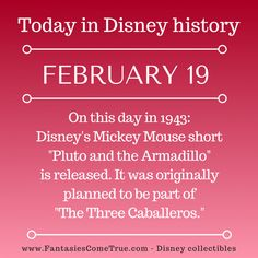 #Disney #DisneyHistory - February 19