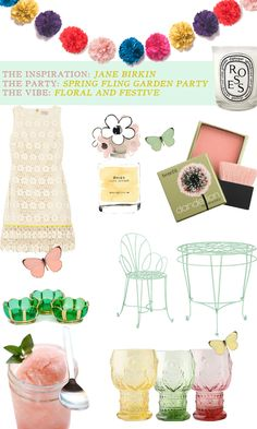 The Iconic Hostess: Spring Fling Garden Party, spring, floral , pink, party, decor