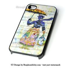 Mary Poppins Art iPhone 4 4S 5 5S 5C 6 6 Plus , iPod 4 5 , Samsung Gal – Resphonebility