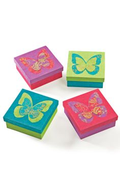 Handmade lokta paper box with butterfly
