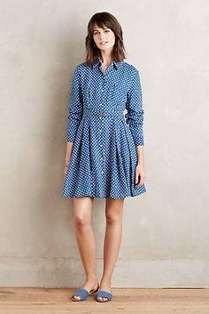 Dotted Linen Shirtdress