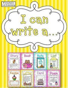 I can write a...Writing Menu