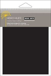 Hero Arts Black Folded Cards