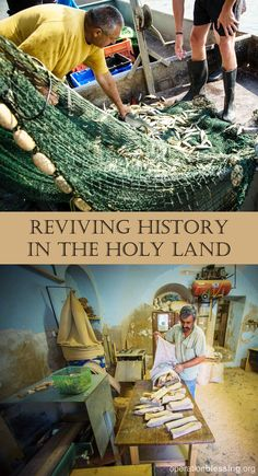 """REVIVING HISTORY IN THE HOLY LAND: Much has changed in the Holy Land since Jesus worked as a carpenter, and taught His disciples to be """"fishers of men"""" on the Sea of Galilee. Many of the traditional trades mentioned in the New Testament, like woodworking and fishing, are fading away in modern times. Click through to read what Operation Blessing did to help. #Israel"""