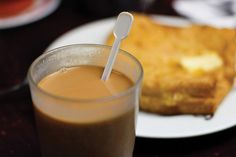 Yuanyang milk tea and french toast from Hong Kong Foodie Tours.