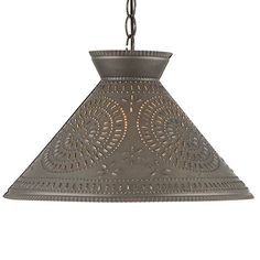 Perfect for hanging over a kitchen island, dining room table, or anywhere you need direct lighting, our selection pendant lighting and punched tin shade lights are sure to complement any decor. Primitive Lighting, Farmhouse Lighting, Kitchen Lighting, Primitive Kitchen, Country Primitive, Country Kitchen, Country Living, Country Style, Gazebo Lighting