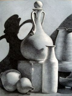 Still Life Drawing Ideas For Beginners.The still life is is one of the main traditions with art. But it can be difficult for a novice to master. Value Drawing, Ap Drawing, Still Life Drawing, Still Life Art, Drawing Faces, Drawing Sketches, Painting & Drawing, Drawing Ideas, Charcoal Drawing