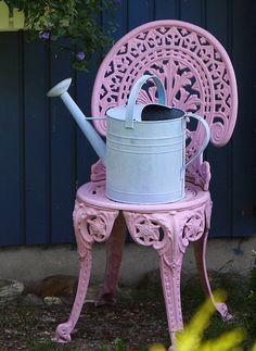 painted garden chair