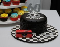 3D Tire Cake with Mechanic Tools