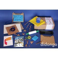 Fiestas de letras y figuras. Kit didongo de manualidades para jugar a dibujar