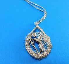 Unique bird Necklace Girlfriend Gift, Hummingbird Necklace Gift