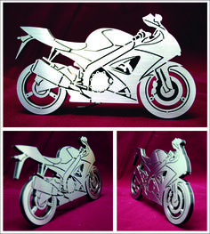 laser cutting - stainless steel - plexiglass - motorcycle