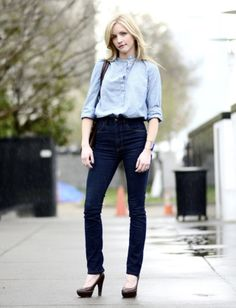Rachel Halvorson - Imogene + Willie high-waisted dark jeans