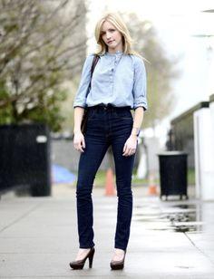 Rachel Halvorson - Imogene + Willie high-waisted dark jeans