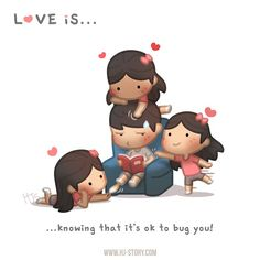 HJ-Story :: Love is… bugging you! Cartoon Love Quotes, Love Cartoon Couple, Cute Love Cartoons, Cute Couple Art, Cute Cartoon, Cute Couples, Hj Story, Cute Love Stories, Love Story