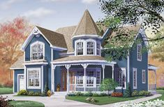 Farm Style House Plans - 2590 Square Foot Home , 2 Story, 3 Bedroom and 2 Bath, 2 Garage Stalls by Monster House Plans - Plan 5-690