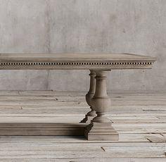 St. James Rectangular Extension Dining Table Antiqued Grey Oak