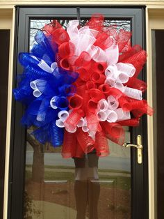 4th of July mesh wreath.  Workshop to be held 5/5.  Cost $30