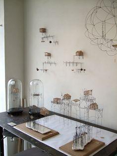 Installation de mes sculptures dans l'atelier de Clémentine De Chabaneix - Montreuil