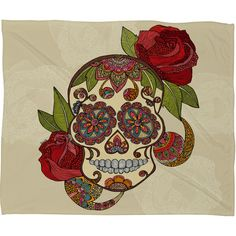 [denydesigns] Valentina Ramos Sugar Skull Fleece Throw Blanket