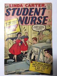 Linda Carter,  Student Nurse 8 Comic Book November 1961
