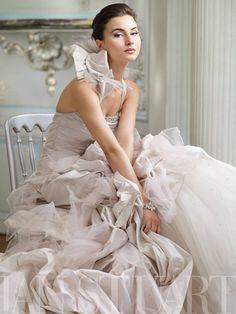 Ian Stuart #wedding #gown - LOVE the #ruffles