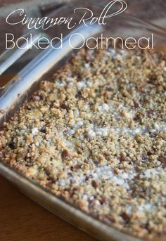 Free Recipes and Cooking Tips: Cinnamon Roll Baked Oatmeal Recipe