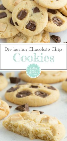 The Best Chocolate Chip Cookies Baking makes you happy - Not only do these chocolate chip cookies taste like Subway. The American Chocolate Chip Cookies are - American Chocolate Chip Cookies, Paleo Chocolate Chip Cookies, Chocolate Chip Oatmeal, Chocolate Desserts, Baking Chocolate, Chocolate Buttercream, Chocolate Chocolate, Healthy Chocolate, Buttercream Frosting